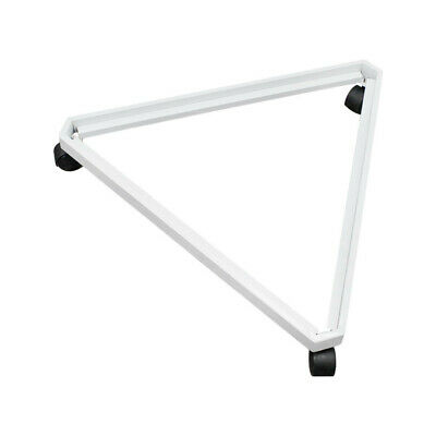 Rolling Triangle Dolly Base 3 Way White Casters 24 X 27 Display Gridwall Panel