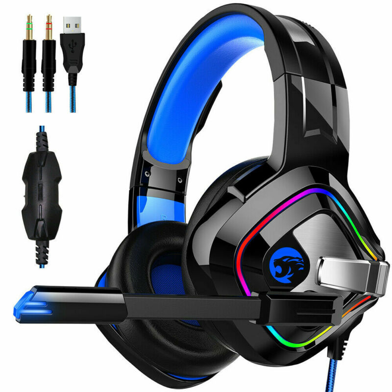 A66 Pro Gaming Headset With Mic For XBOX One Wired PS4 Headphones Microphone