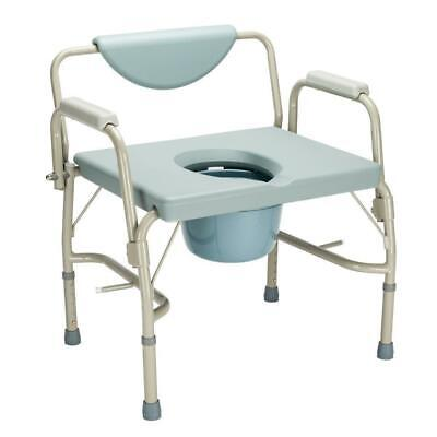 Large Bedside Toilet Steel Commode Bariatric Portable Foldin