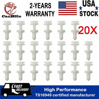 20pcs Clips Door Panel Retainer Pin Nut Holder Snap For GM C5 C6 Corvette Chevy