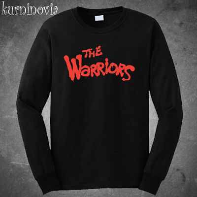 The Warriors Movie Action Logo Long Sleeve Black T-Shirt Size S M L XL 2XL 3XL ()