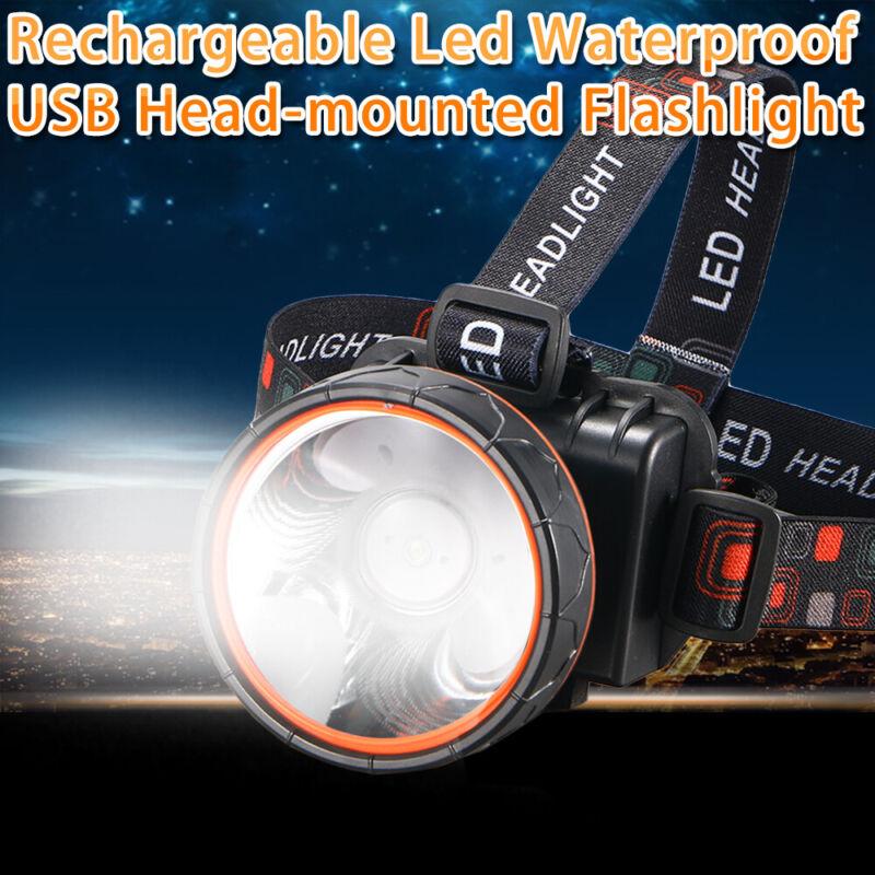 Bright LED Headlamp waterproof Rechargeable Headlight 5000 Lumens F Hunting FAST