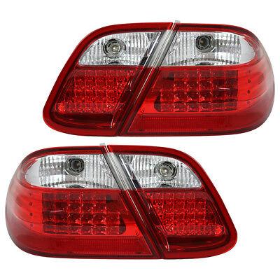 LED Rückleuchten Set für Mercedes CLK W208 Bj. 1997-2002 Rot/Chrom