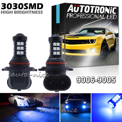 2pc High Power 9005 9145 H10 30SMD LED Fog Driving Light Super Bright Blue