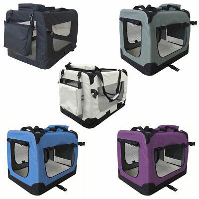 Transportbox Faltbar Faltbox Hund Transporttasche Katze Auto 7 Größen 5 Farben