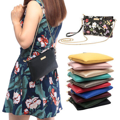 Aitbags Fashion Women Clutch Phone Purse Leather Crossbody Bag with Chain Strap