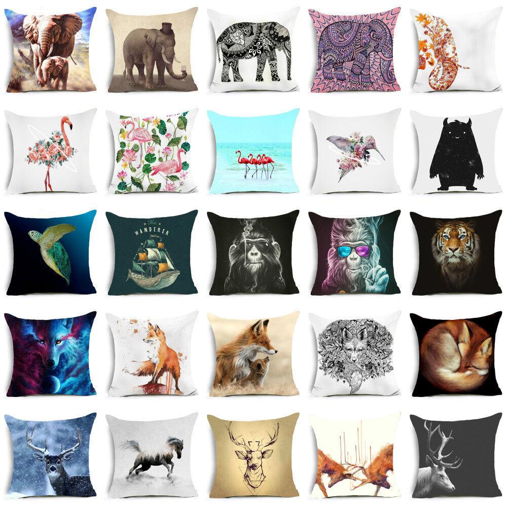 18'' Polyester Animal pillow case for sofa Car official cush