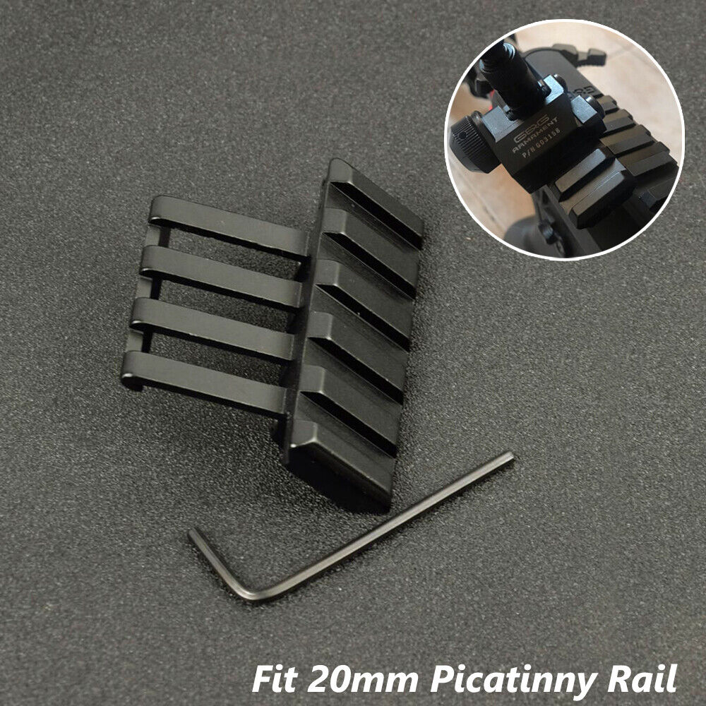 45 Degree Offset Picatinny / Weaver Rail Mount for Iron Sights Laser Optics Hunting