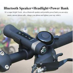 Multi-function Bluetooth Speaker + Flashlight Torch + Bike lamp + Power Bank /FM