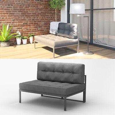 Alu Gartenmöbel Lounge Set Palettenkissen Gartenlounge Sitzgarnitur Sitzgruppe