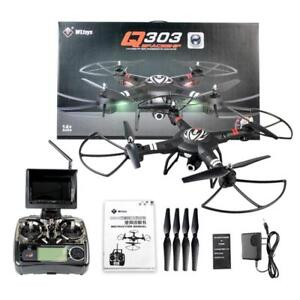 NEW Q303-A Drone with RealTime FPV 5.8G+Monitor / Altitude Hold / Headless Mode / 2MP Wide-Angle Camera+1-Axis Gimbal