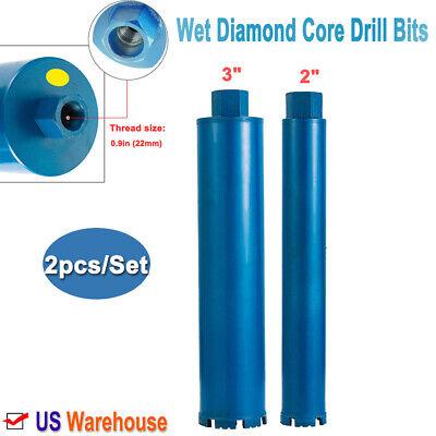 23 Wet Diamond Core Drill Bit Blue Diamondblades Drill Bit 0.9thread 2pcset