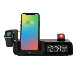 PRE La Crosse Technology Wattz Wireless Charging Projection Alarm Clock