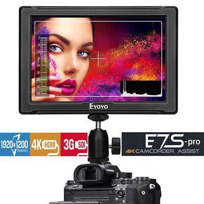 Eyoyo E7S PRO Camera Field Monitor Screen 4K IPS HDMI 3G 1920x1200 DSLR Monitor