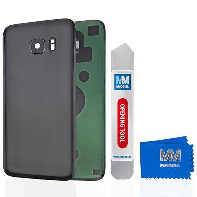 Akkudeckel mit Linse für Samsung Galaxy S7 G930 (SCHWARZ) Backcover + Kleber
