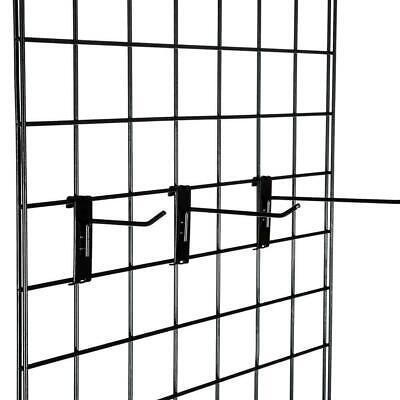 18pcs Hat Racks Wire Grid Wall Cap Slat Panels Gridwall Display Hook Black