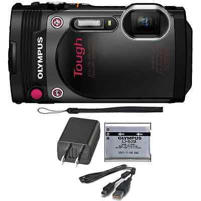 Olympus Stylus TOUGH TG-870 16MP Waterproof/Shockproof Digital Camera (Black)