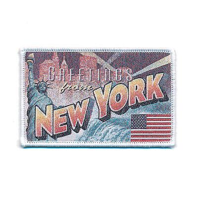 90 x 58 mm New York Retro Nostalgie Patch USA Edel Aufnäher Aufbügler 0751 B