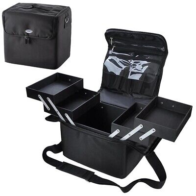 Extra Large Oxford Storage Beauty Makeup Nail Salon Cosmetic Travel Case Black