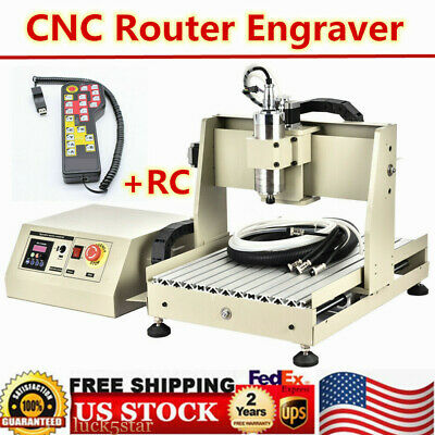 4 Axis Cnc 3040t Router Engraver Engraving Drilling Milling Machine Rc 800w