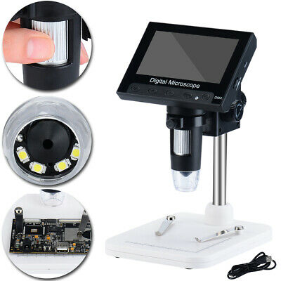 4.3 1000x Hd Lcd Monitor Electronic Digital Video Microscope Led Magnifier Tool