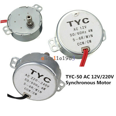 Tyc-50 Ac 12v220v 56rpm 5060hz 4w Cwccw Synchronous Motor For Microwave