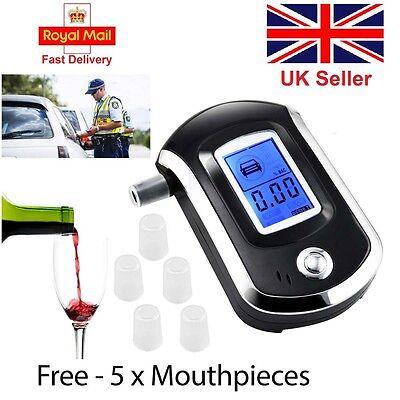 NEW Police Digital Breath Alcohol Analyzer Tester LCD Breathalyzer test detector