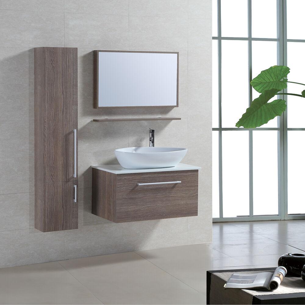 Badmöbel-Set Badezimmermöbel Waschbeckenunterschrank Waschtisch Hängeschrank