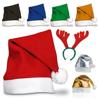 10 X Adult Festive Weihnachtsmann Rentier Weihnachten Mütze Stirnband Party