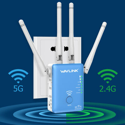 Wavlink Dual Band AC1200 WiFi Repeater,2.4G&5G Wireless Range Extender Dual Band Wireless Repeater