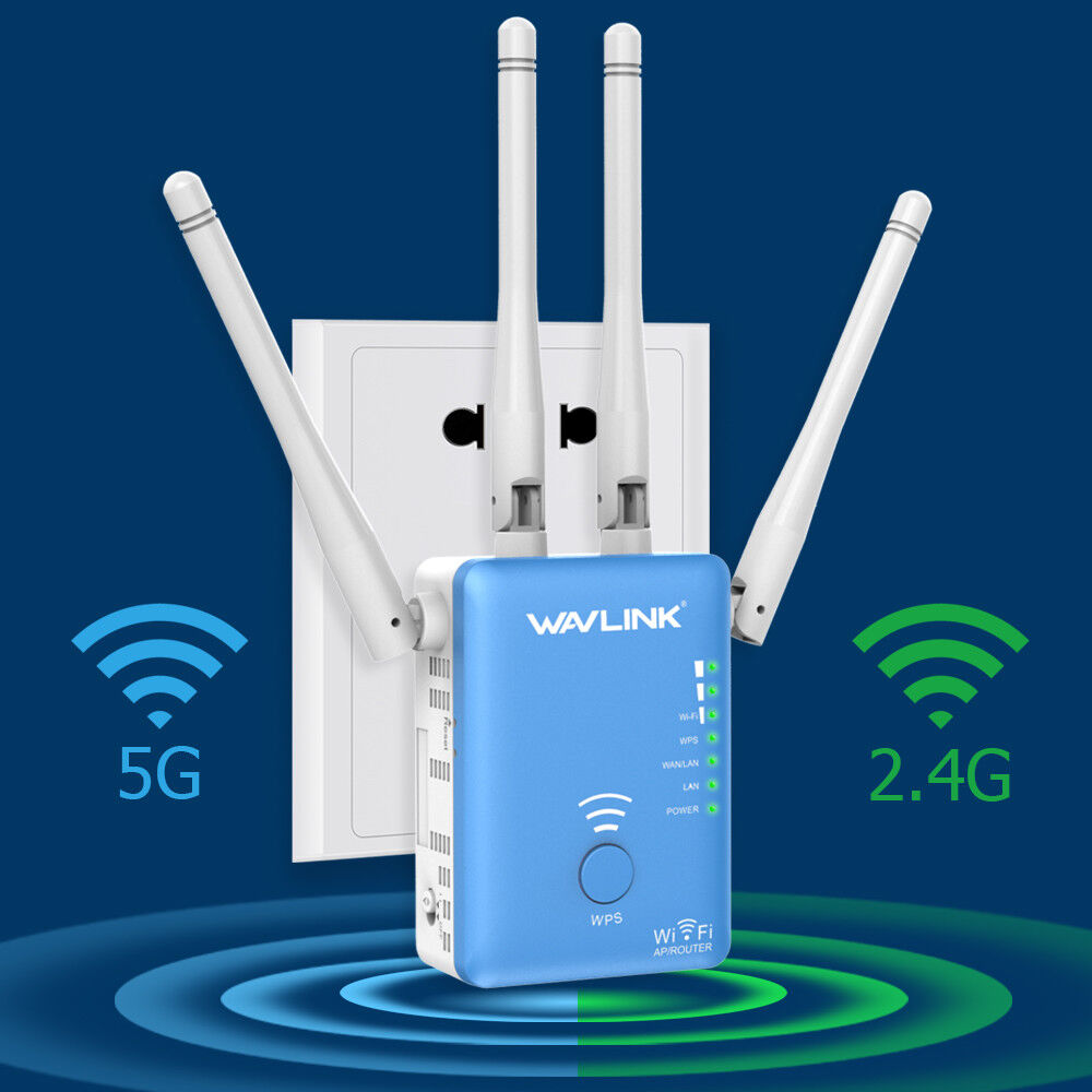 Wavlink Dual Band AC1200 WiFi Repeater,2.4G&5G Wireless Rang