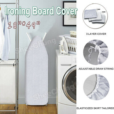 """49""""x18"""" Ironing Board Cover &Pad 3-Layer Silicone Coated Protective Scorch Mesh  ()"""