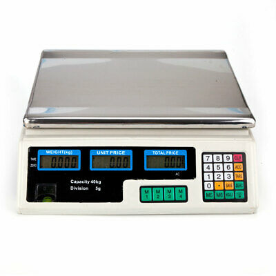 88lb 40kg Commercial Grade Digital Food Meat Deli Scale Pricing Computer Retail