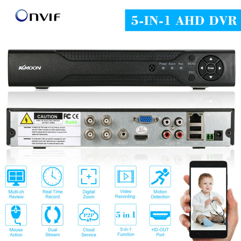 KKmoon 4CH/8CH/16CH 1080N Hybrid AHD DVR 5-in-1 Digital Video Recorder P2P Onvif