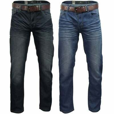 Crosshatch Men's New Fashion Jeans Straight Fit Vintage Fade