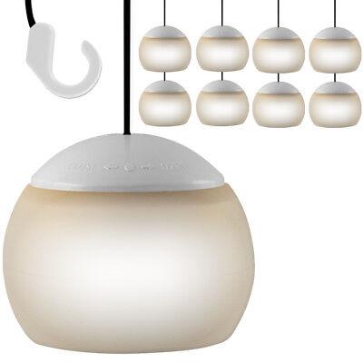 8x LED Hängelampe Camping Zeltlampe Leuchte Pavillon Beleuchtung Hängeleuchte