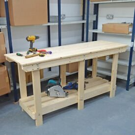Wooden Workbench | Various Sizes | VERY STRONG & STURDY | Excellent Quality