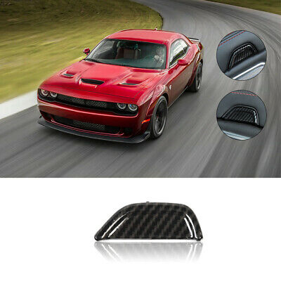 Armrest Box Switch Decor Cover Trim 1pc For Dodge Challenger 2015+ Carbon Fiber