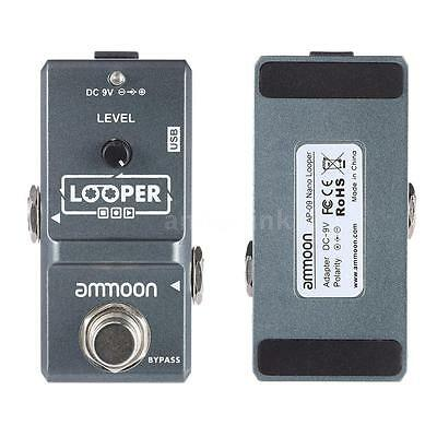 ammoon Nano Loop Electric Guitar Effect Pedal Looper True Bypass Mini Portable ()