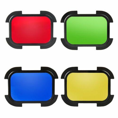 Godox For AD200 Flash Speedlite BD07 Barn Door Honeycomb Grid  4 Color Filters