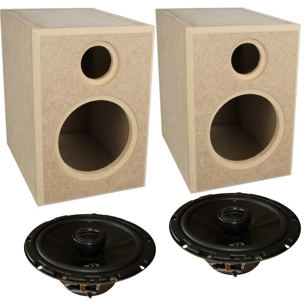 2 Wege Regal Reflex Gehäuse MDF Box + 16,5 cm Koaxial Lautsprecher LX6 Bausatz