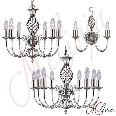 Wandleuchte Chrom Kerze (Kronleuchter Wandlampe Silber Chrom Hängelampe Pendelleuchte Wandleuchte Kerze)