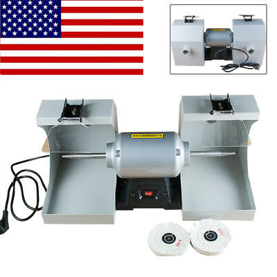 Polisher Polishing Machine Dental Laboratory Lathe Buffing Grinder For Jewelry