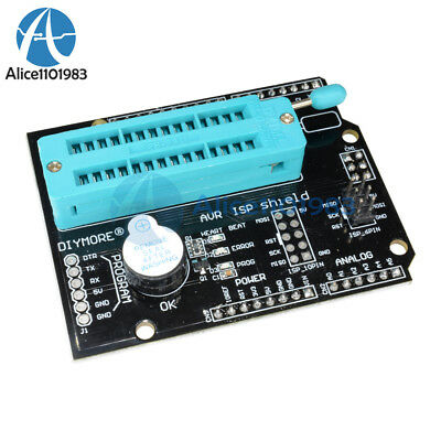 Avr Isp Shield Burning Burn Bootloader Programmer For Arduino Uno R3
