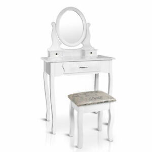Mary 3 Drawer Mirror Dressing Table and Stool White