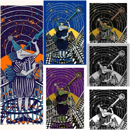 Jim Pollock - Neo The Astronomer - Complete Set of 6 Art Prints Phish Posters