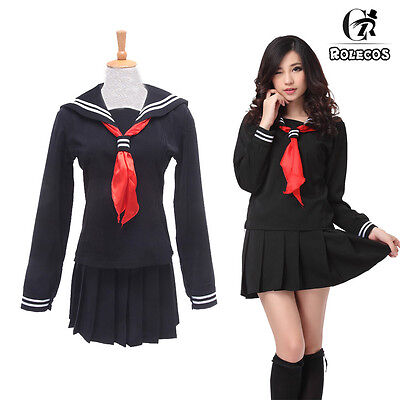 USA Ship Hell Girl Enma Ai JK School - Hell Girl Ai Enma Cosplay Kostüm