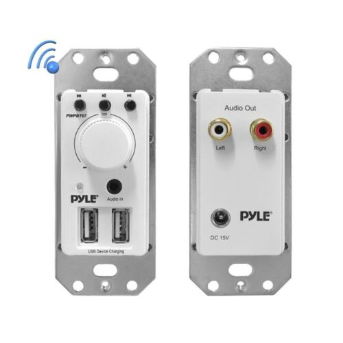 Pyle PWPBT67 In-Wall Bluetooth Audio Receiver, Dual USB Devi