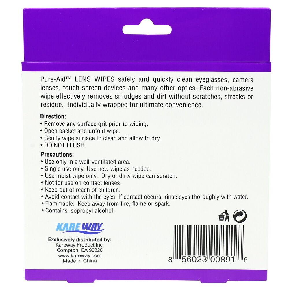 Купить Pure-Aid - Pure-Aid Eye Glasses & Camera Lens Wipes, 100ct