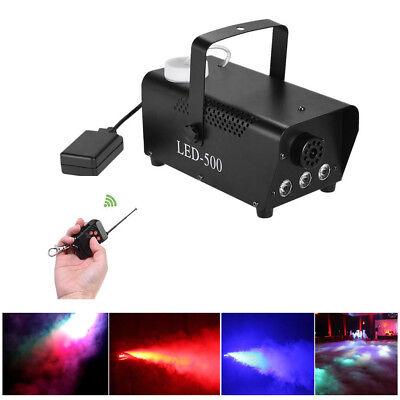 Smoke Fog Effect Machine Fogger 500 W Halloween DJ Stage Disco Party FREE - Fog Machine Liquid